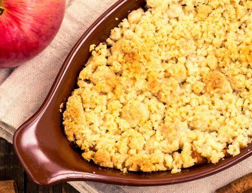 Healthy Apple Pecan Crumble
