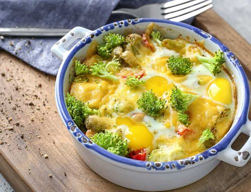 Roasted Vegetable And Baked Egg Casserole