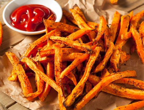 Sweet Potato Fries With Home-Made Tomato Salsa