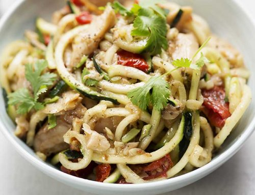 Satay Chicken With Zoodles