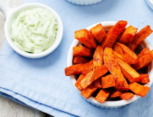 Sweet Potato Fries With Creamy Avocado Dip